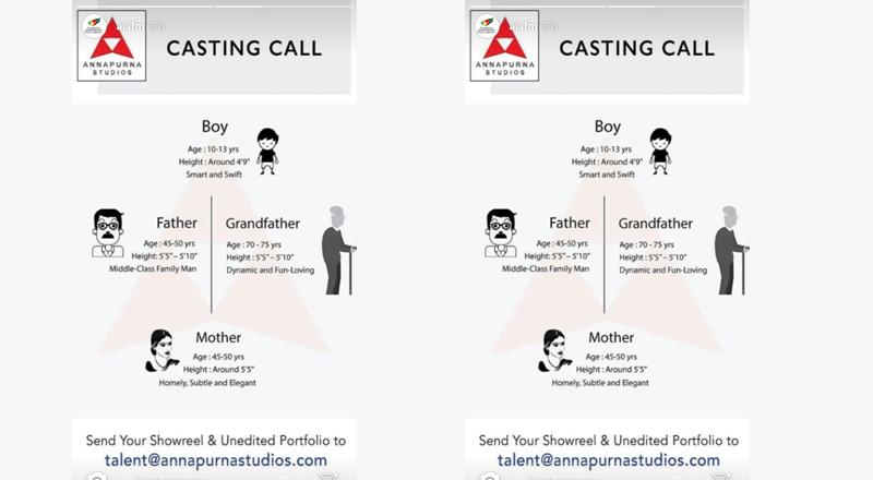 Casting Call @ Annapurna Studios