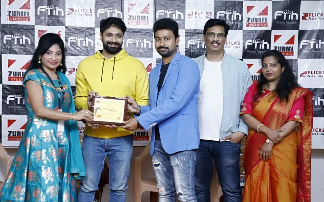 Actor Aditya Om Presenting Passing Out Certificates To Acting Students At FTIH Convocation 2021